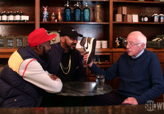 Bernie Sanders Goes on 'Desus & Mero,' Gets Quizzed on the Prices of Rare Sneakers