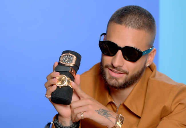 Maluma Rebuilt His Watch Collection After Being Robbed in Russia