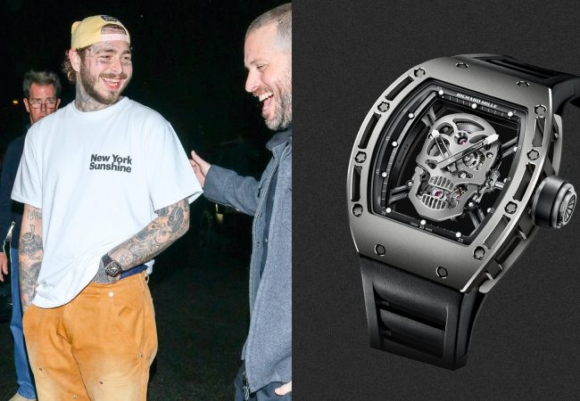Post Malone Wears a Very Punk-Rock Timepiece