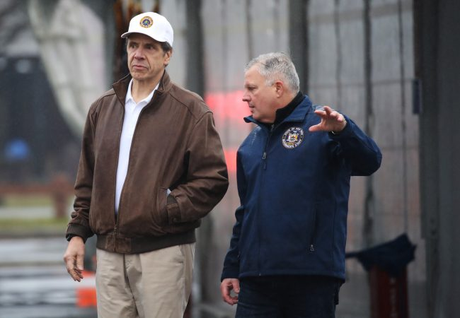 In a Moment of Information Overload, Governor Andrew Cuomo Dresses for Facts Only
