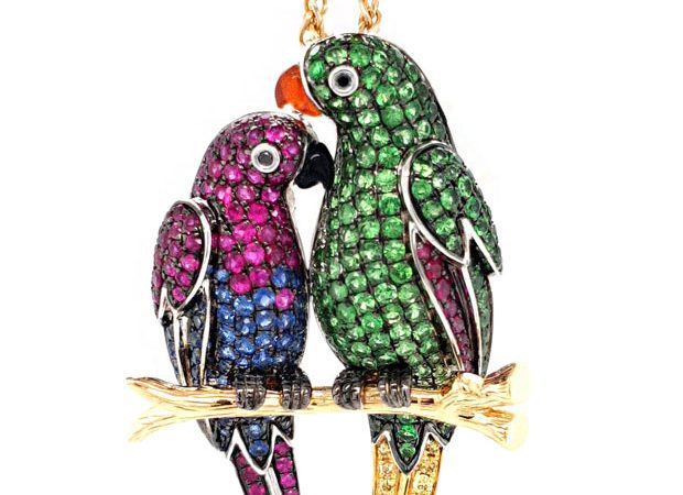 'Eclectus Parrot' pendant