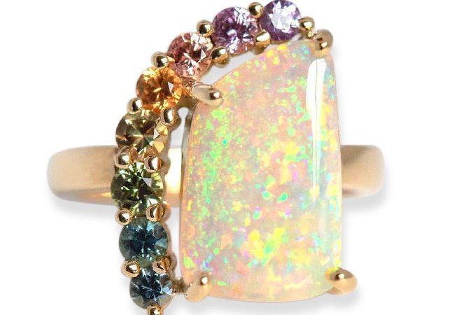 'Rainbow Goddess' ring