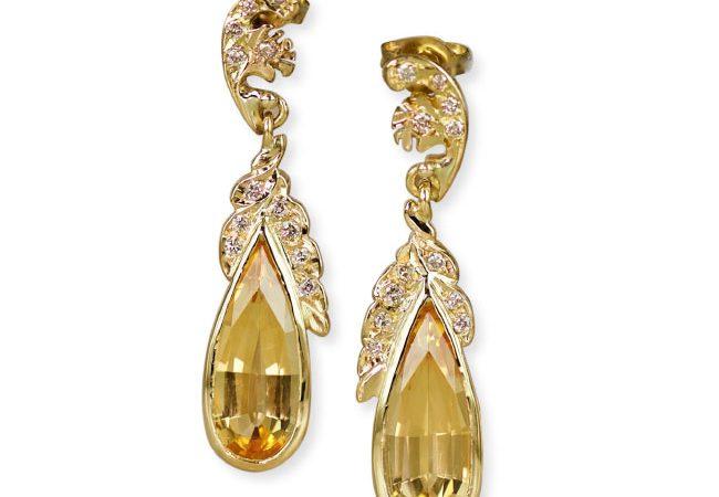 'Rhapsody Golden Topaz' earrings